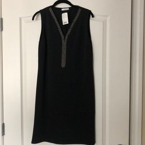 NWT French Black sleeveless sheath dress